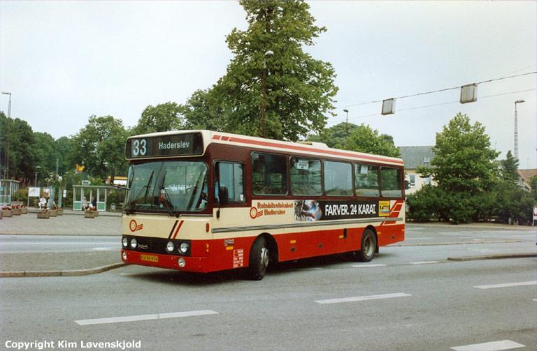 Rutebilselskabet Haderslev KU90976 i Haderslev i 1990