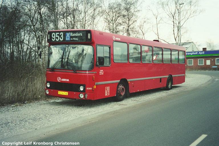 Arriva 9061/KV94742 ved Connexgaragen i Randers den 12. marts 2004