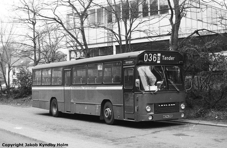 Rutebilselskabet Haderslev HE94395 i Haderslev den 21. januar 1988