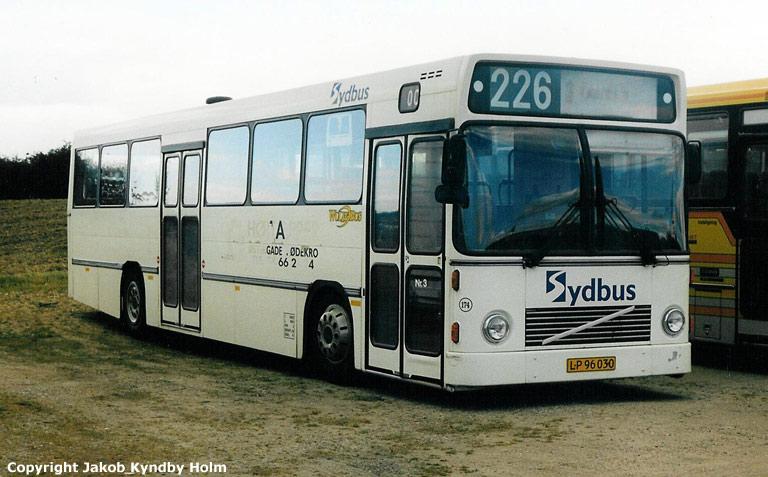 Rutebilselskabet Haderslev LP96030 (lånebus) i Haderslev den 19. september 2002