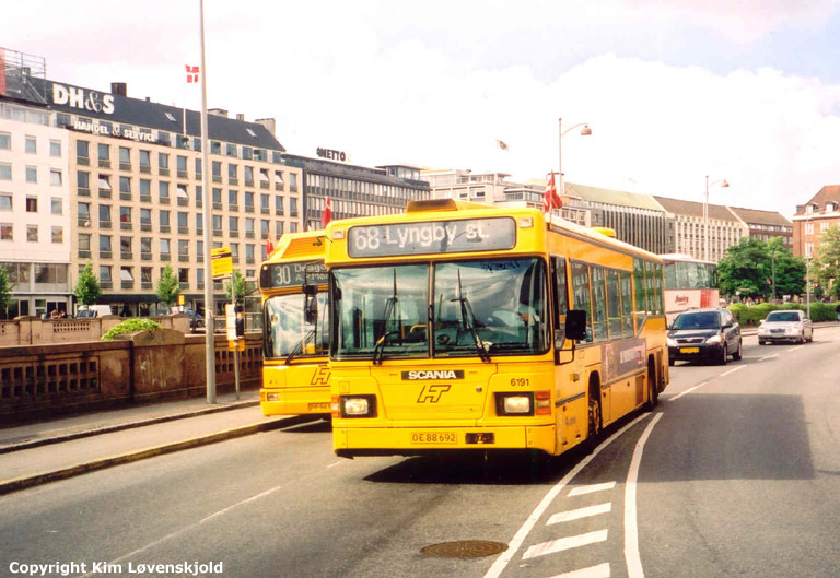 Connex 6191/OE88692 på Hammerichsgade i København i 2003