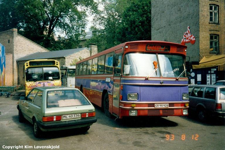 Next Stop Nørrebro ER 98928 på Guldbergsgade i København den 12. august 1993