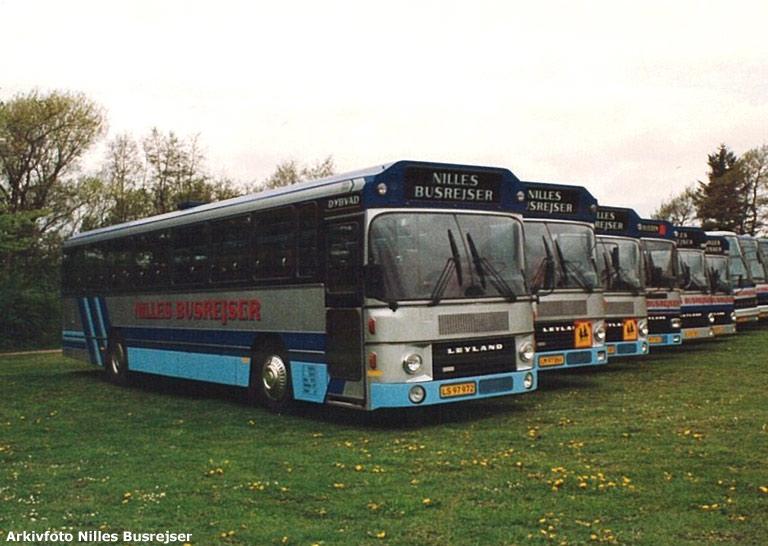 Nilles Busrejsers vognpark i 1991