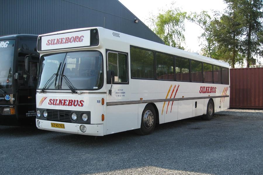 Silkebus 18/VZ92703 i garagen i Silkeborg den 30. april 2009