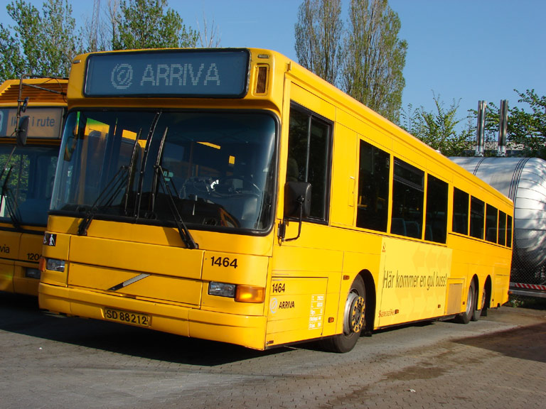 Arriva 1464/SD88212 i garagen i Gladsaxe den 29. april 2009