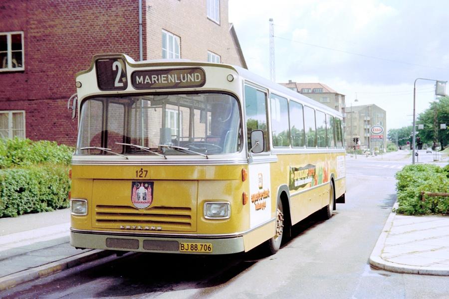 Århus Sporveje 127/BJ88706 i Kongsvang i Århus den 1. juni 1975