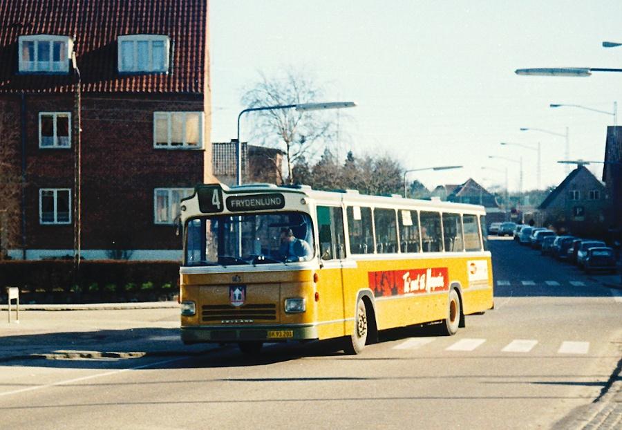 Århus Sporveje 143/BK93201 på Kridthøj Torv i Højbjerg den 24. februar 1974