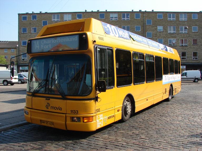 Arriva 1133/PM95409 på Jydeholmen i Vanløse den 24. maj 2009