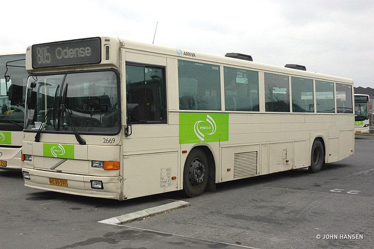 Arriva 2669/RC89397 på Odense rtb. den 17. februar 2008