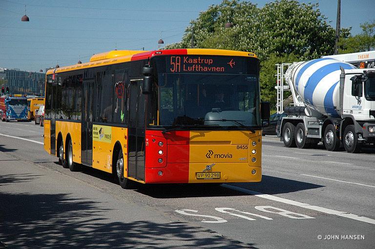 Netbus 8455/VP90298 på Amager Boulevard i København den 13. maj 2008