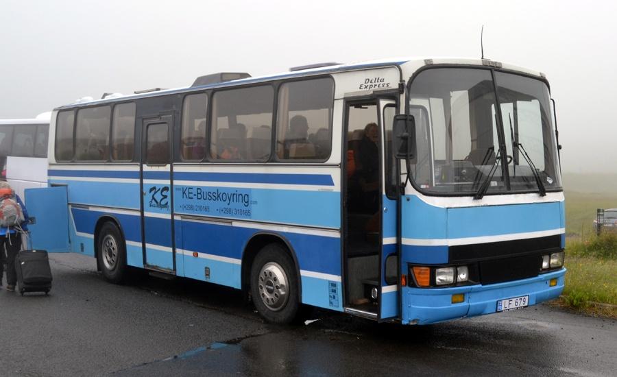 KE Busskøyring LF679 i Tórshavn på Færøerne den 11. juli 2013