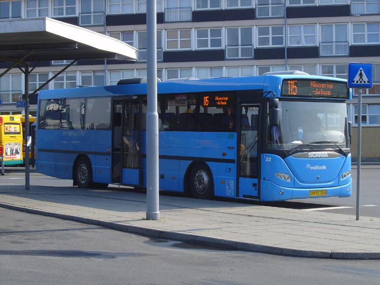 De Grønne Busser 22/VH93384 på Randers rtb. den 15. juli 2009