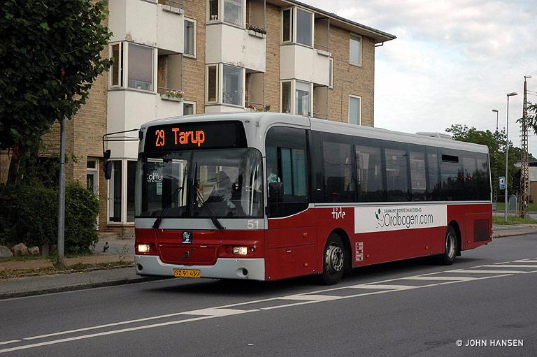 Tide Bus 51/SZ91439 på Munkebjergvej i Odense den 4. august 2009