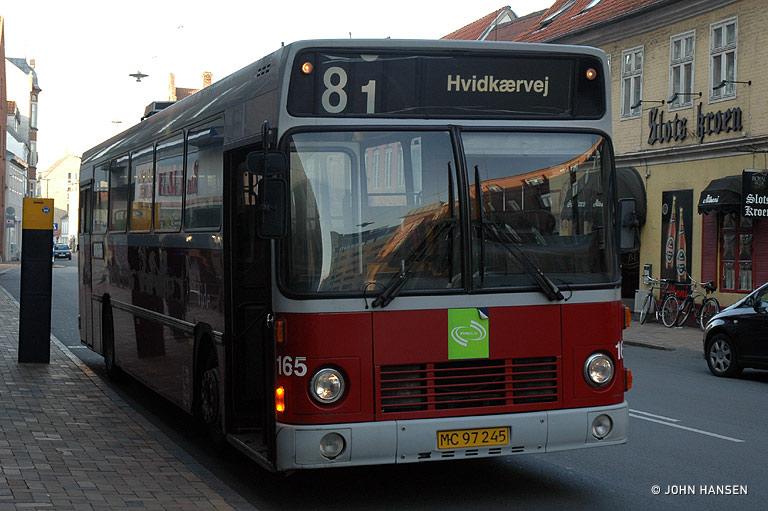 Tide Bus 165/MC97245 på Nørregade i Odense den 5. august 2009