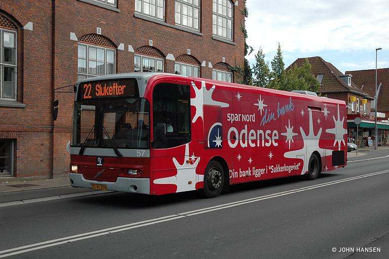 Odense Bybusser 57/TS91359 på Hjallesevej i Odense den 24. august 2007
