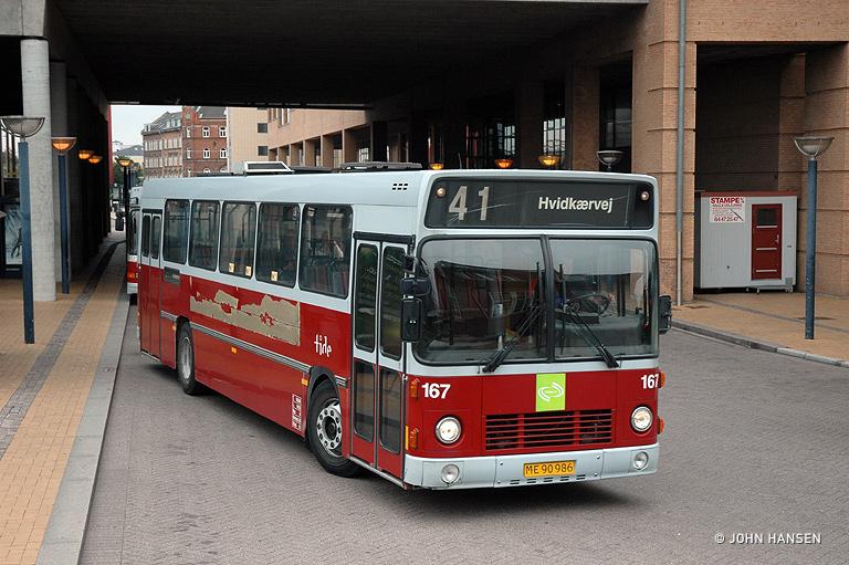 Tide Bus 167/ME90986 ved Odense Banegård Center den 27. juli 2009