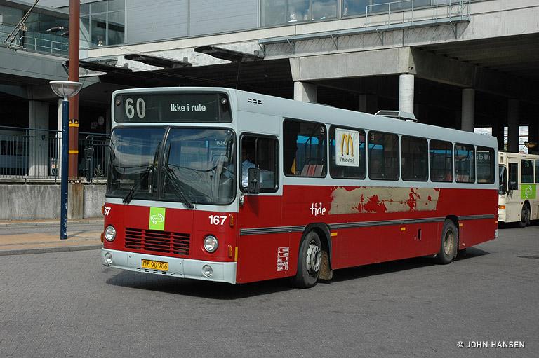 Tide Bus 167/ME90986 ved Odense Banegård Center den 11. august 2009