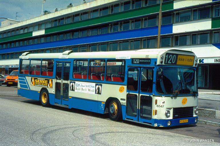 Linjebus 6547/HT96244 i Tåstrup den 5. juli 1994
