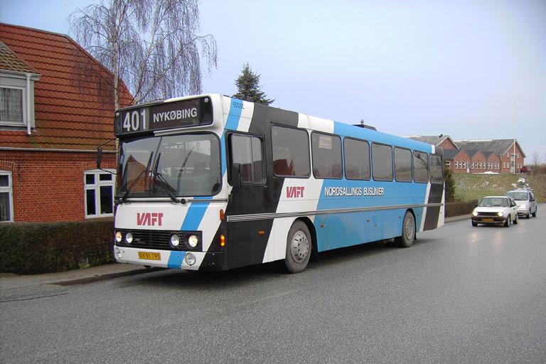 Nordsallings Buslinier 4/OX91795 i Oddense den 13. februar 2006