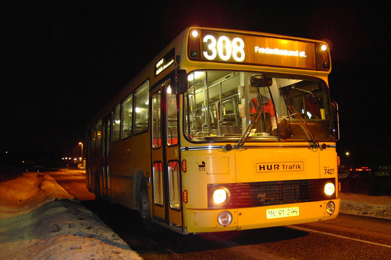 Fjordbus 7427/MV91299 i Slangerup den 4. februar 2006