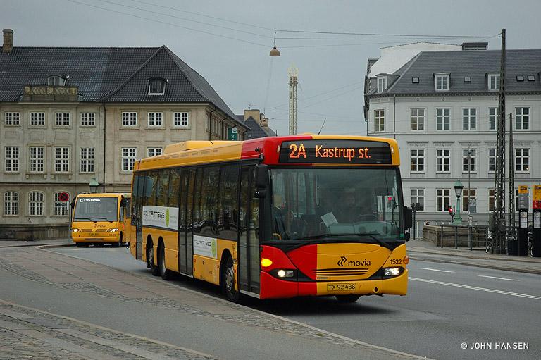 Arriva 1522/TX92488 på Vindebrogade i København den 23. oktober 2009