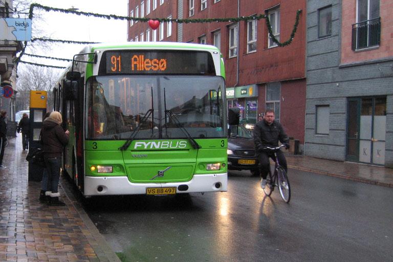 Odense Bybusser 3/VS88497 på Nørregade i Odense den 3. december 2009