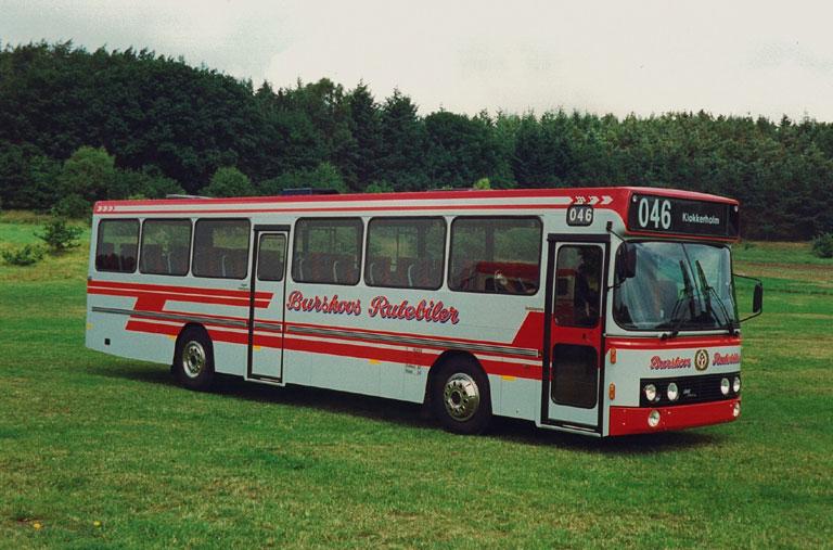 DAB fabriksfoto af Burskovs Rutebiler 8/MD91658