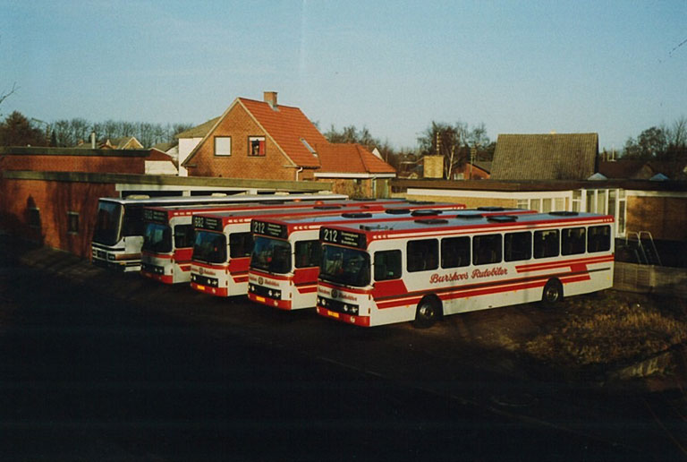 Burskovs Rutebilers vognpark i 1992