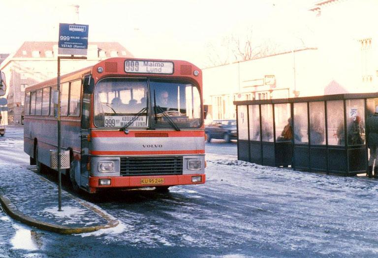 Jørgen Andersen 71/KU95246 på Bernstorffsgade i København den 29. januar 1986