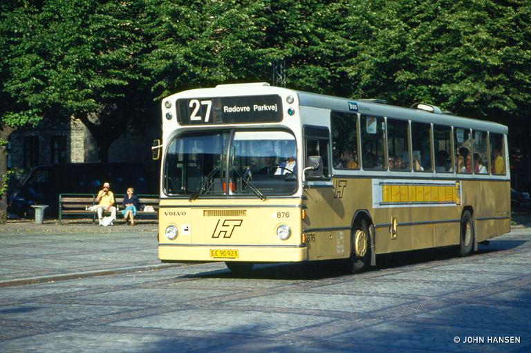 HT 876/EE90923 i Frederiksberg Allé på Frederiksberg den 16. juli 1993