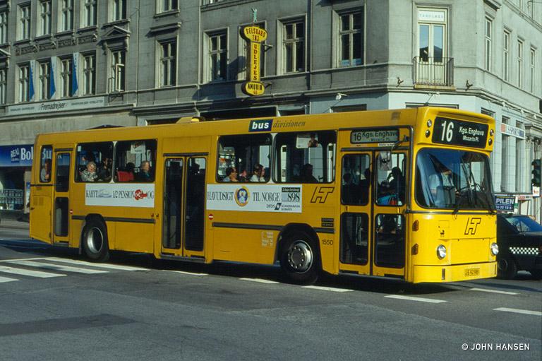 HT 1550/JE92981 på Vesterbrogade i København den 16. juli 1993