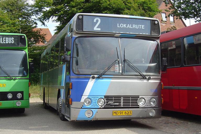 Wulff Bus 133/MD91623 i garagen i Vinderup den 27. juli 2006