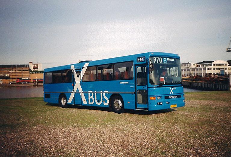 DSB 2450/OD92510 på havnen i Aalborg i sommeren 1995