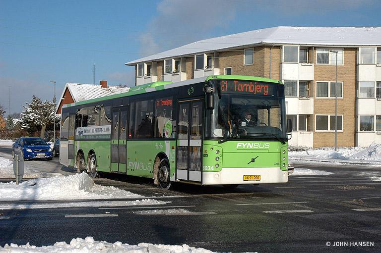 Tide Bus 8034/XK91200 på Munkebjergvej i Odense den 30. januar 2010