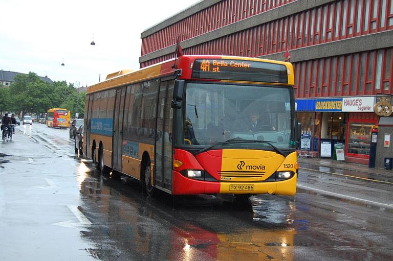 Arriva 1520/TX92486 i Sejrøgade i København den 11. juni 2009
