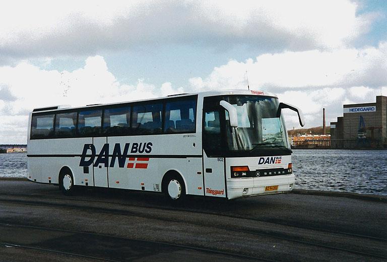 Thinggaard 502/NZ94202 på havnen i Aalborg i foråret 1995