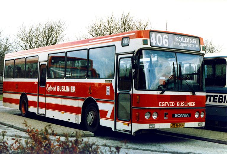 Egtved Buslinier JM96056 i Grindsted den 15. oktober 1987