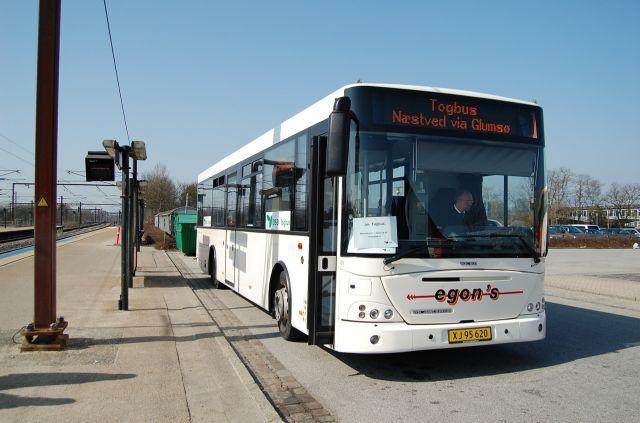 Egons Turist- og Minibusser 134/XJ95620 ved Ringsted St. i marts 2009