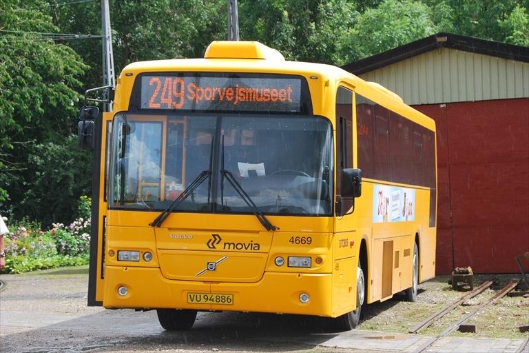 Ditobus 4669/VU94886 ved Sporvejsmuseet Skjoldenæsholm den 25. juli 2009