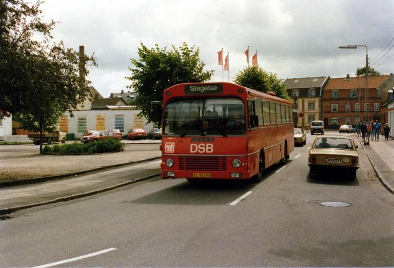 DSB 611/EL92593 på Sønder Stationsvej i Slagelse i 1987