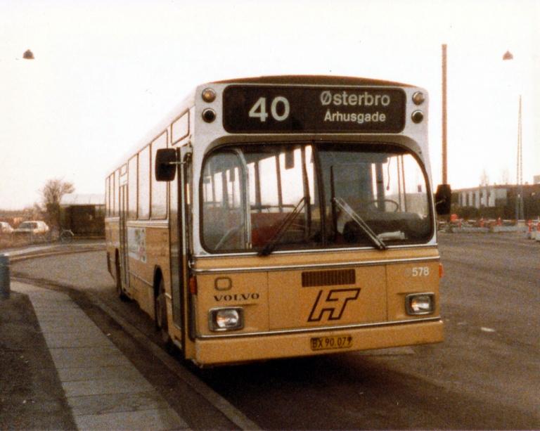 HT 578/BX90079 ved endestationen på Artillerivej på Islands Brygge i marts 1986