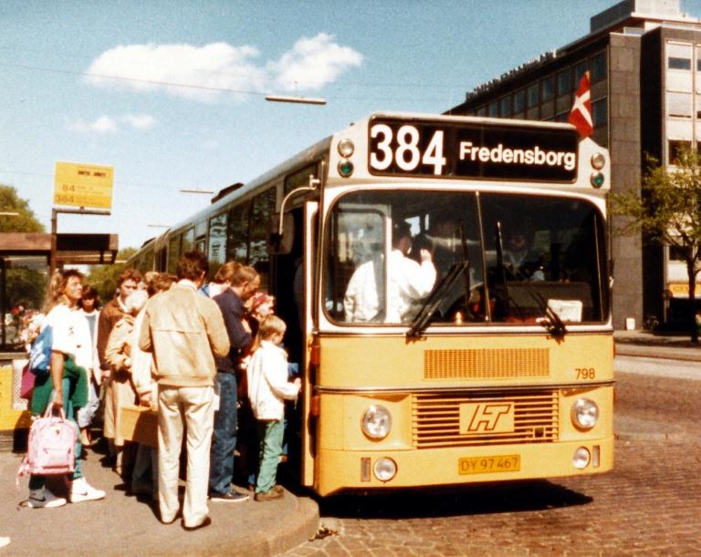 HT 798/DY97467 ved Nørreport Station i juni 1986
