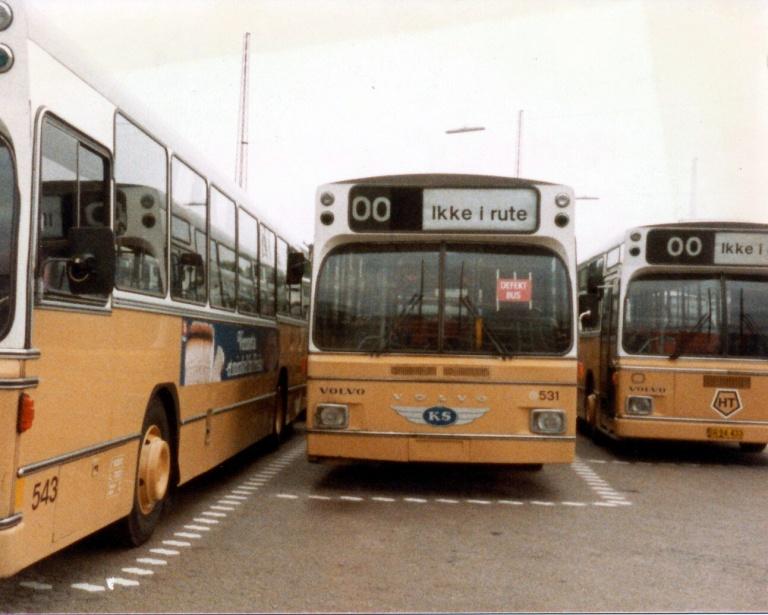 HT 531 i Husum garage inden eksport til Volvo i Gøteborg i Sverige i september 1984
