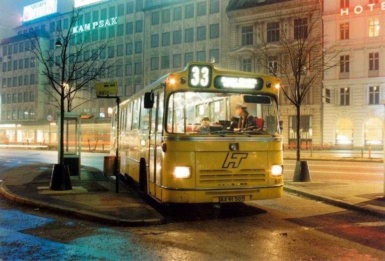 HT 501/AX91502 ved Amagerterminalen i København i april 1988