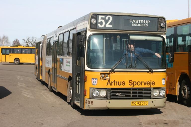 Århus Sporveje 408/MC92070 i garage syd i Hasselager den 18. marts 2006