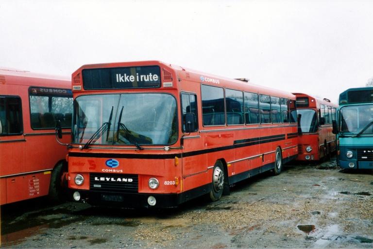 Combus 8203 hos Vejle Busophug i 1998