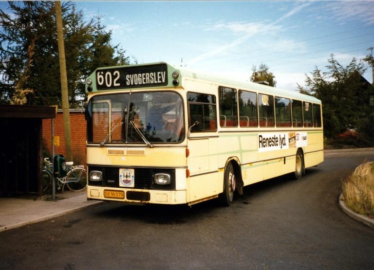 Roskilde Omnibusselskab 1/DX96579 i Veddelev i Roskilde i 1986