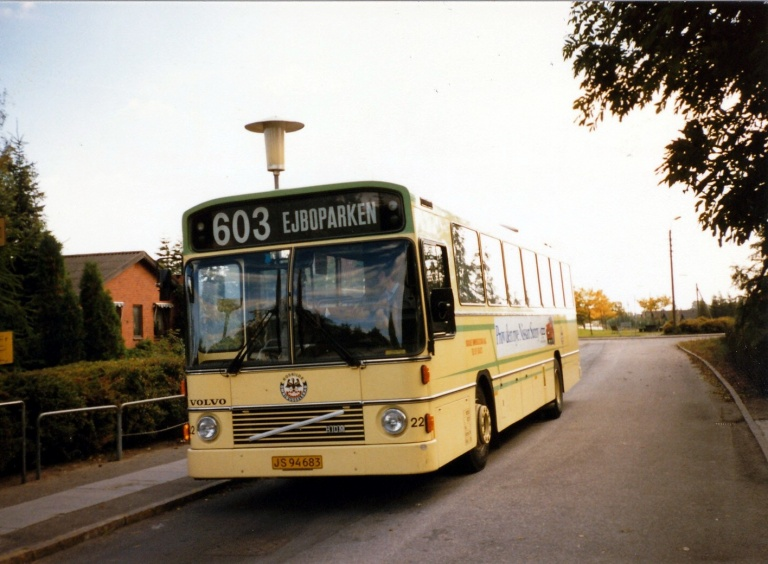 Roskilde Omnibusselskab 22/JS94683 i Vindinge ved Roskilde i 1986