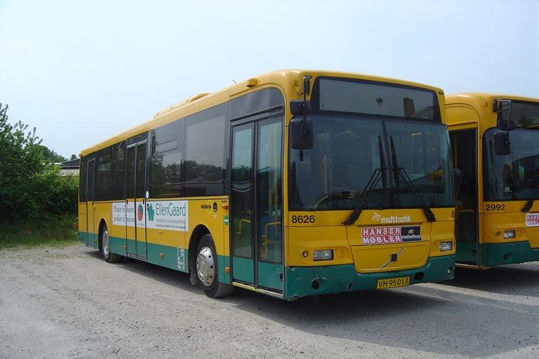 Nobina 8626/VH95013 (lånevogn) i Randers den 6. juni 2010