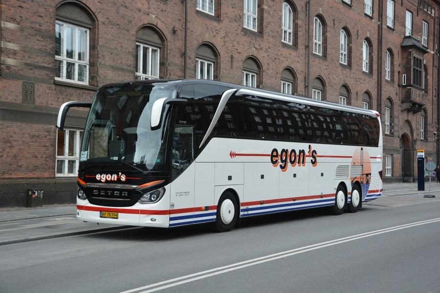 Egons Turist- og Minibusser 199/AP78594 på Vester Voldgade i København den 16. april 2015